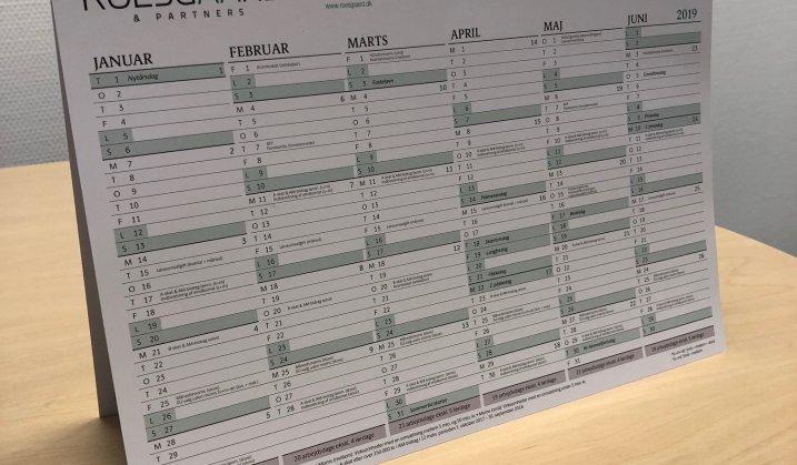 Roesgaard kalenderen 2019